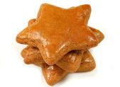Gingerbread cookies stars isolated — Stock Photo