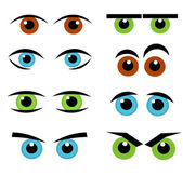 Eyes emotion collection — Stock Vector