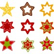 Stars collection — Stock Vector