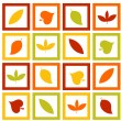 Autumn leaves — Stock Vector