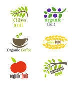 Organic food labels — Stock Vector