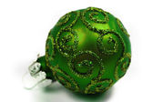 Christmas glass bauble — Stock Photo