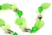 Green necklace — Stock Photo