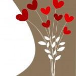 Blumenstrauß von Herzen — Stockvektor