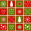 Christmas tiles — Stock Vector