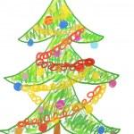 Christmas tree drawing — Stock Photo #31517603
