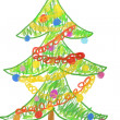 Christmas tree drawing — Stock Photo #31517603