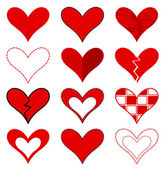 Conjunto de corações — Vetor de Stock