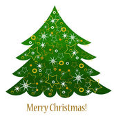 Christmas tree card — Vettoriale Stock