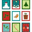 Christmas stamps — Stock Vector #31695995