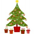 Christmas tree and presents — Stock Vector #31698185