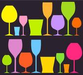Drink glasses — Stock Vector