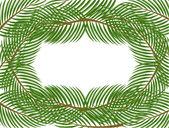 Pine frame — Cтоковый вектор
