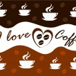 Stock Vector: Coffee background