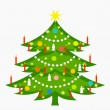 Christmas tree decorated — Stock Vector