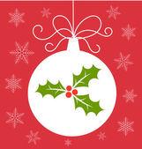 Christmas bauble card — Stock Vector