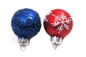 Christmas isolated glass balls — Stock Photo