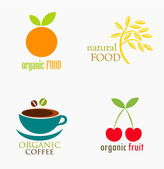 Food labels — Stock Vector