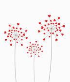 Heart dandelion — Stock Vector