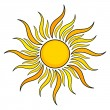 Stock Vector: Sun icon