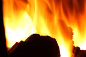 Fire in furnace — Stock Photo
