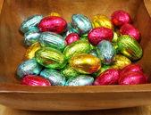 Easter chocolate eggs — Stock Photo