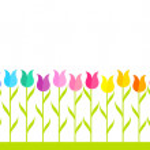 Tulip garden — Stock Vector