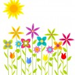 flowers meadow — Stock Vector