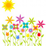 Flowers meadow — Stock Vector