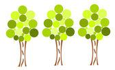 Três árvores — Vetorial Stock