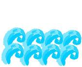 L'eau des vagues — Vecteur