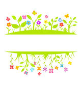 Spring border — Stock Vector