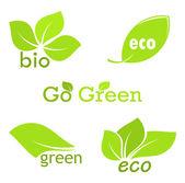 Hoja de eco — Vector de stock