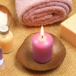 Beauty relax with candle — Stock Photo