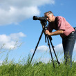 Stock Photo: Man photgrapher