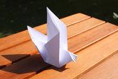 Origami bird — Stock Photo