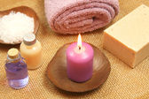 Beauty relax with candle — Foto de Stock