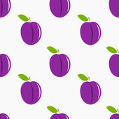 Plums pattern — Stock Vector
