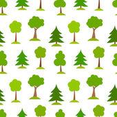 Trees pattern — Stock Vector