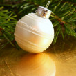 Christmas white ball — Stock Photo