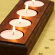 Tea light candles — Stock Photo
