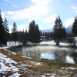 Geothermal pond — Stock Photo