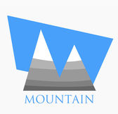 Mountain symbol — Stock Vector
