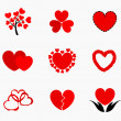 Hearts icons — Vector de stock #35356085
