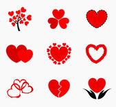 Hearts icons — Stock Vector