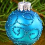 Blue Christmas ball — Stock Photo #35366905
