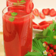 Strawberry smoothies — Stock Photo