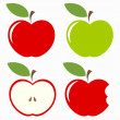 Set of apples — Stock Vector