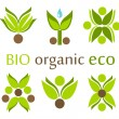 Organic, eco symbols — Stock Vector