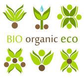 Organic, eco symbols — Stock Vector
